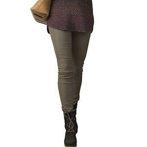 Prana Jenna Moto Skinny Pants Women's 4 Green